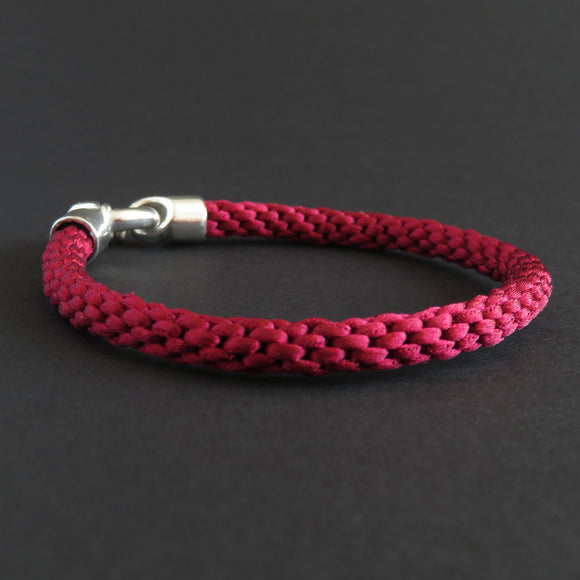 Braided bracelet - Burgundy Red
