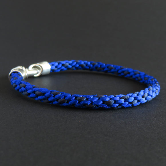 Braided bracelet - Azure blue/ dark blue