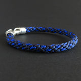 Braided bracelets - Azure blue/ Dark blue bundle