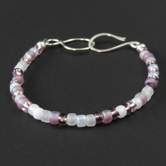 Beaded Bracelet - Pink and White