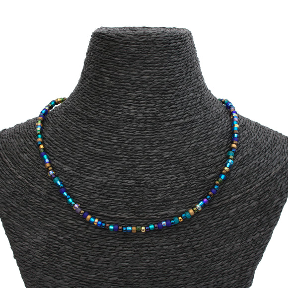 Beaded Necklace - Peacock