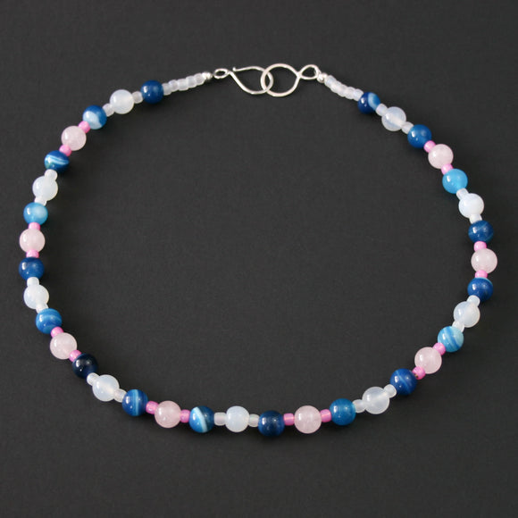 Gemstones - Agate and Quartz necklace