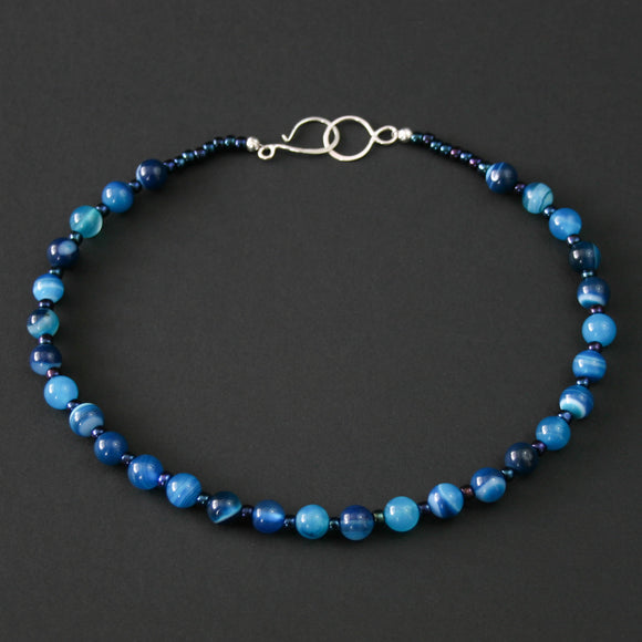 Gemstones - Blue Agate necklace
