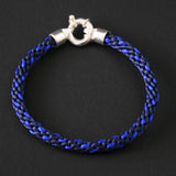 Braided bracelet - Dark blue/ azure blue