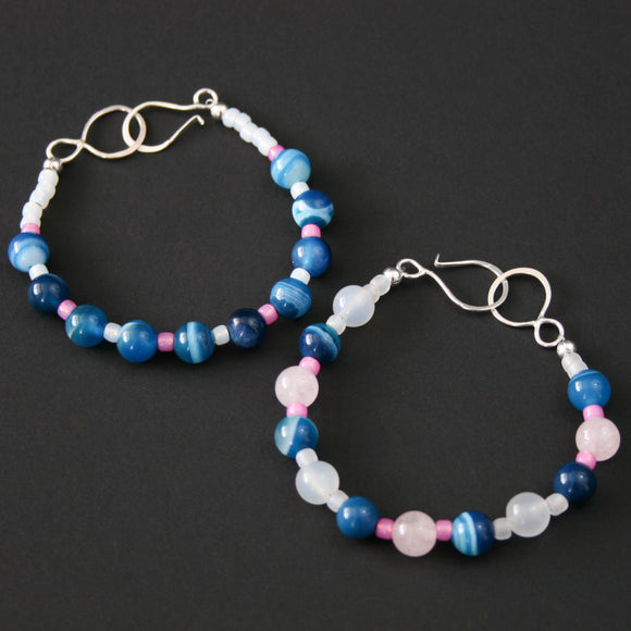 Gemstones - Quartz and Agate two bracelets bundle