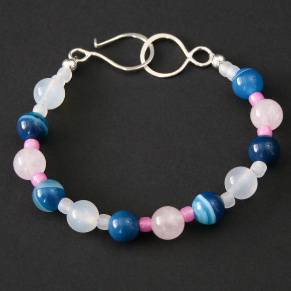 Gemstones - Quartz and Agate bracelet