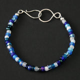 Beaded Bracelet - Blue and White