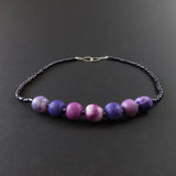 Polymer clay - Purple and Pink (7 bead)
