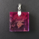 Resin and Silver Pendant
