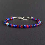 Beaded Bracelet - Red and Blue