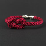 Figure of Eight Knot Bracelet - Burgundy Red