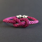 Figure of Eight Knot Bracelet - Raspberry Pink