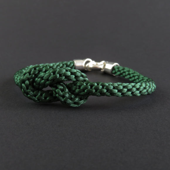 Figure of Eight Knot Bracelet - Emerald Green