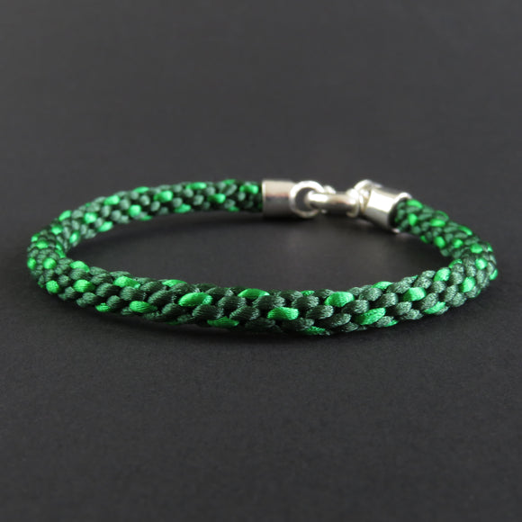 Braided Bracelet - Emerald Green/ Leaf Green