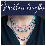 Beaded Necklace - Purple and Magenta