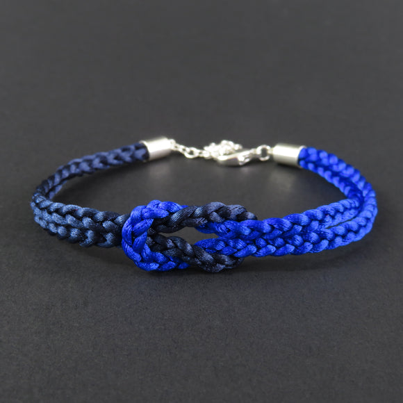 Reef Knot Bracelet - Dark Blue and Bright Blue