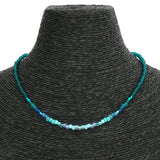 Beaded Necklace - Turquoise Ombré