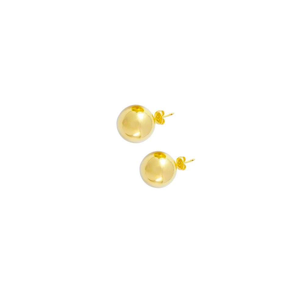 14kt Gold Round Bead Earrings