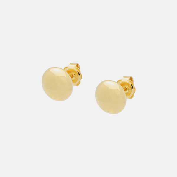 """Polished Rounds"" Gold-Dipped Polished Round Disc Earrings"