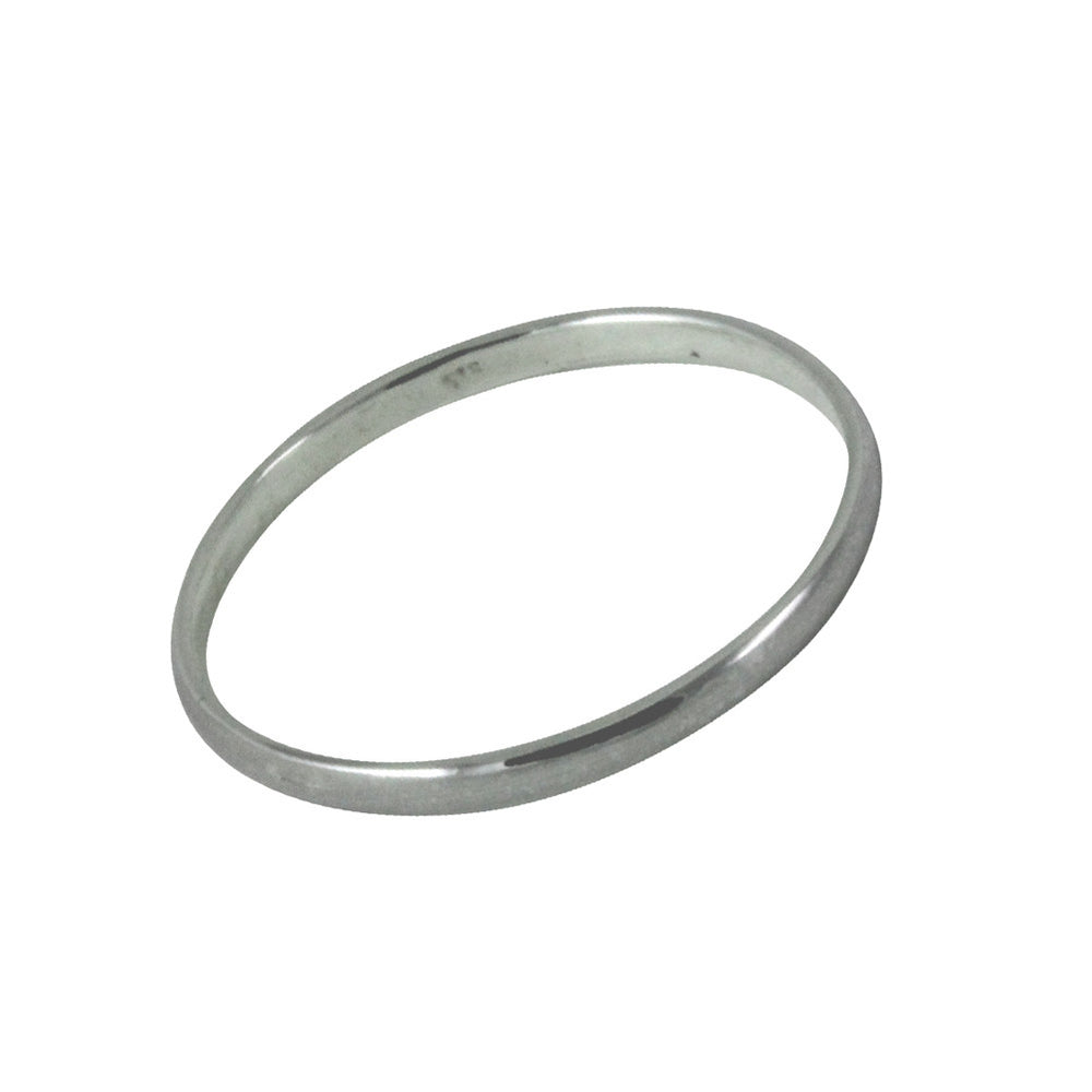 Sterling Silver Thin Band Ring 2mm