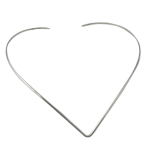 Sterling Silver V Collar Choker Necklace