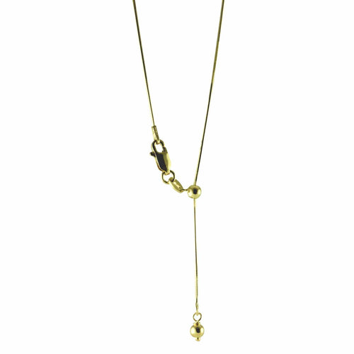 Gold-Dipped Adjustable Bolo Chain Necklace
