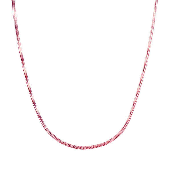 Rosy Snake Chain Necklace 30 inch