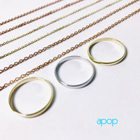 14k Rose Gold Link Chain Necklace