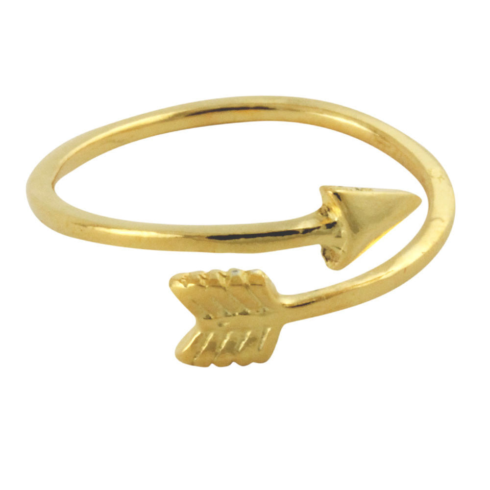 Gold-Dipped Arrow Band Ring