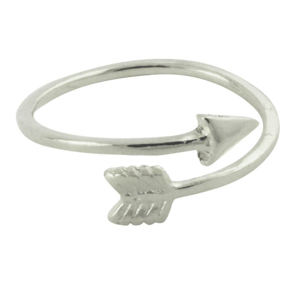 Sterling Silver Arrow Band Ring