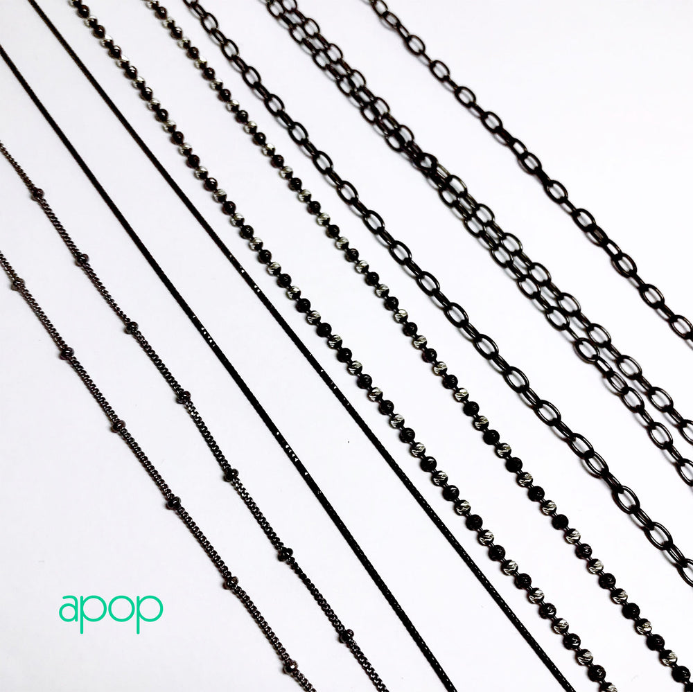apop nyc Thin Sterling Silver Snake Chain Necklace 14 inch Choker Style