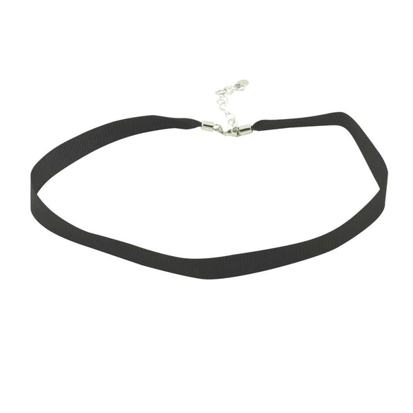 Black Satin Choker Necklace