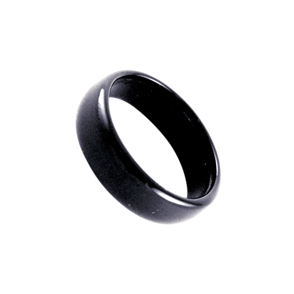 Black Onyx Stone Band Ring