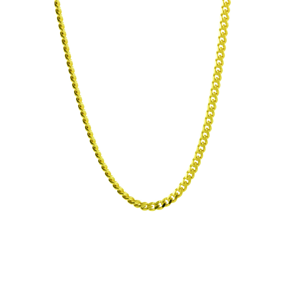 Gold-Dipped Miami Style Links Chain Necklace