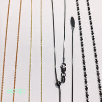Adjustable Blackened Silver Bolo Chain Necklace