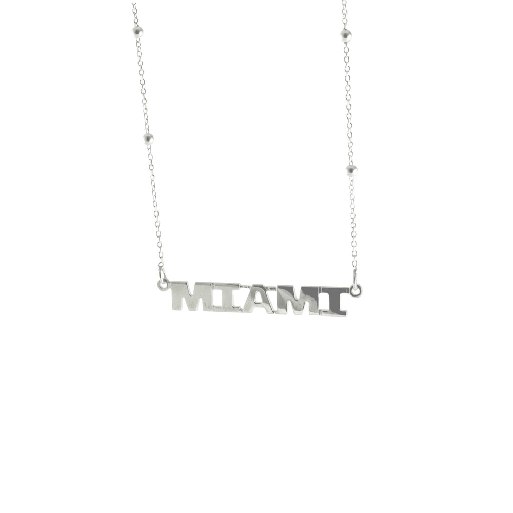 """City"" Sterling Silver Nameplate Necklace"