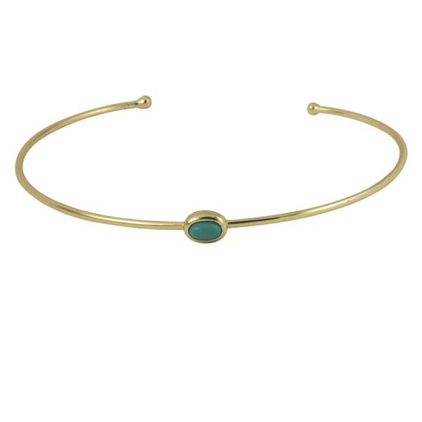 Gold-Dipped Turquoise Cuff Bracelet