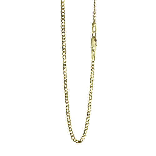 14k Gold Curb Cuban Style Chain Necklace