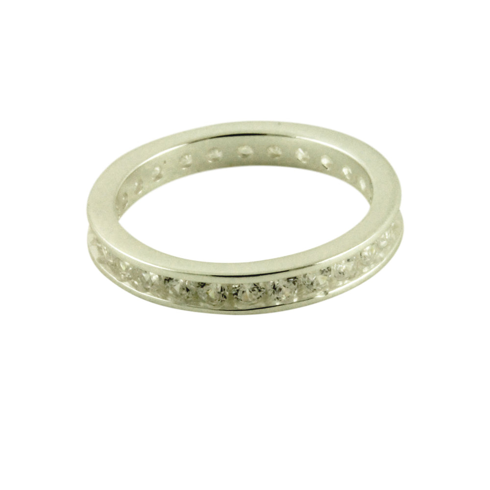 Sterling Silver Eternity Style CZ Band Ring