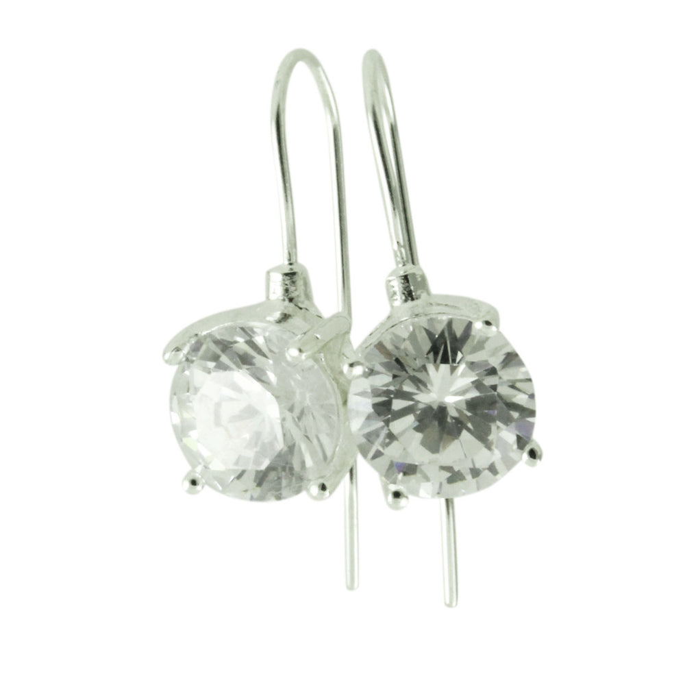 Sterling CZ Dangle Earrings
