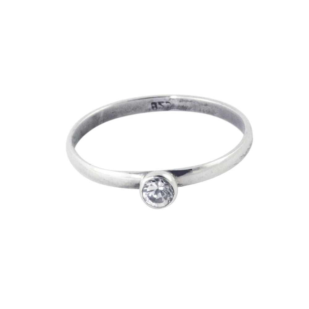 """Royal"" Sterling Silver Mini CZ Stack Ring"