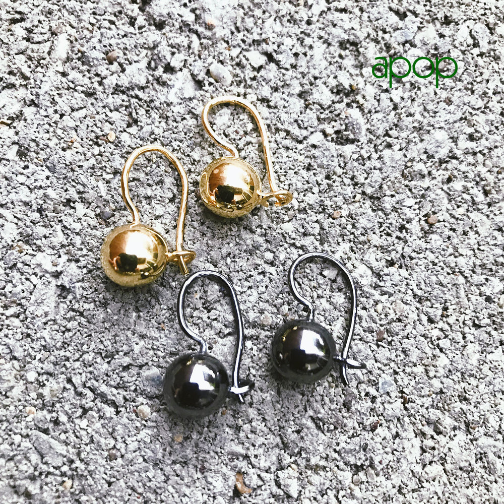 "Sterling Silver ""Sphere"" Drop Earrings"