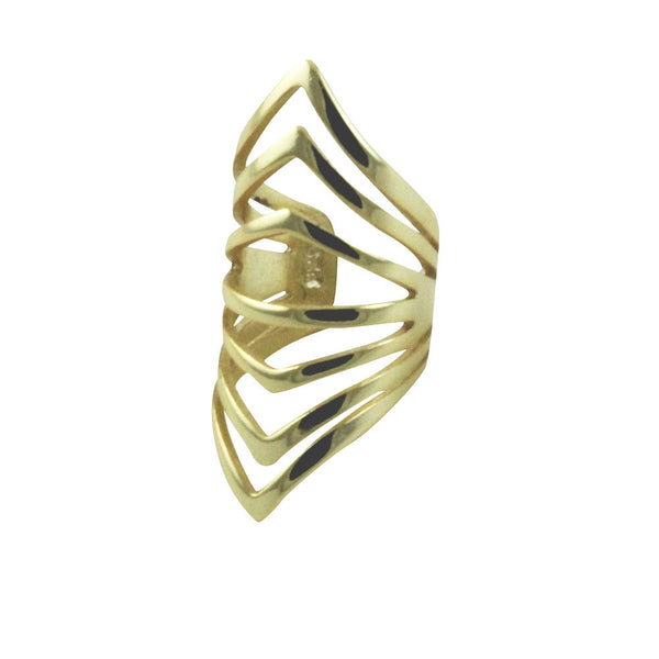 """Ribby"" Gold-Dipped Ear Wrap Cuff Earring"