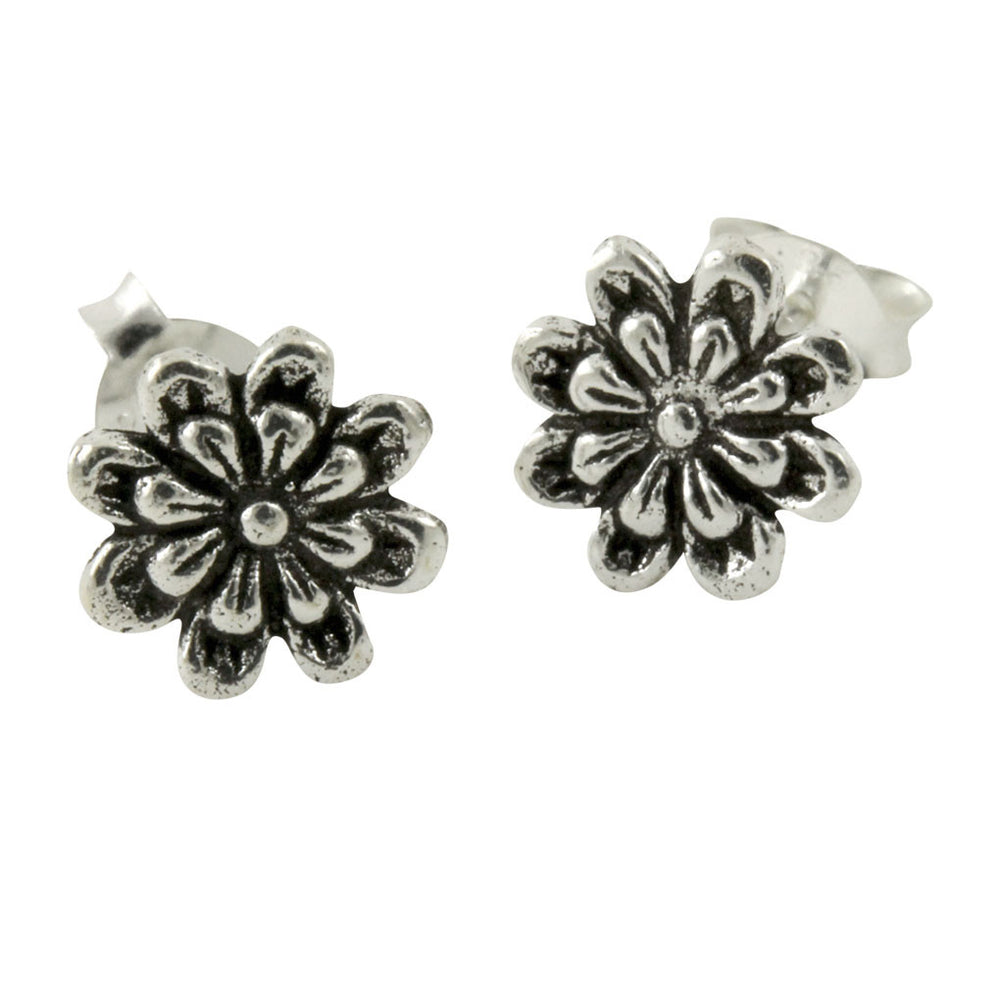 """Daisy"" Sterling Cute Flower Earrings"