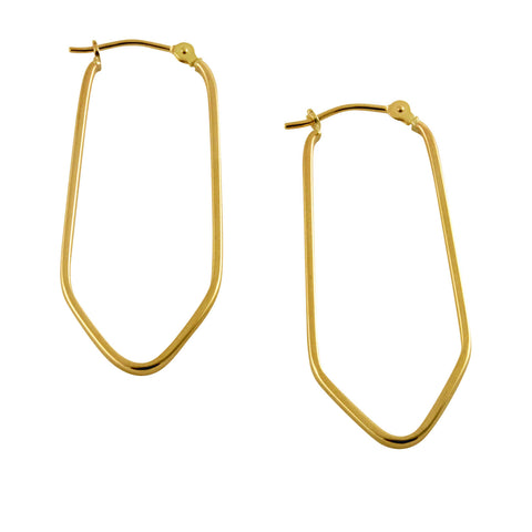 10K Geometrical Hoop Earrings