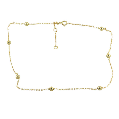 Gold-Dipped Bead Choker Necklace