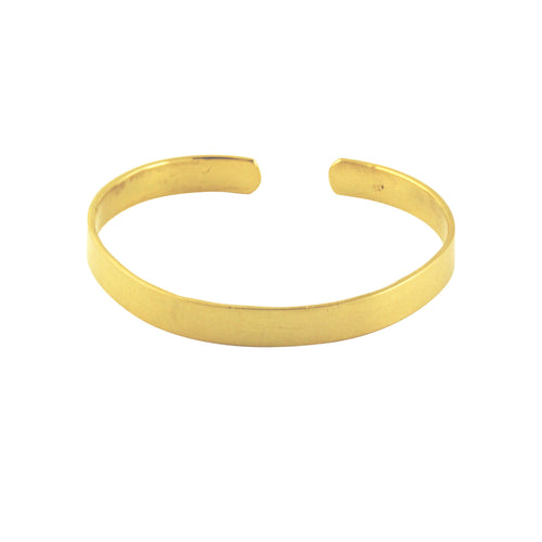 Gold-Dipped Cuff Bangle Bracelet