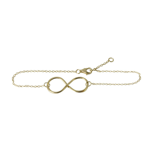 Gold-Dipped Infinity Charm Bracelet 7 inch - 1 inch Charm