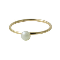 """Frosty"" Gold-Dipped Mini Pearl Ring"