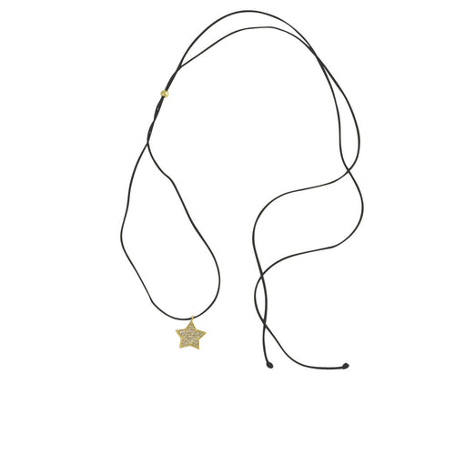 Gold-Dipped Star Charm Adjustable Choker Necklace